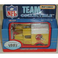 1991 NFL Matchbox White Rose Die Cast Truck - KC Chiefs