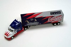 2001 White Rose NFL Die Cast Tractor-Trailer New York Giants