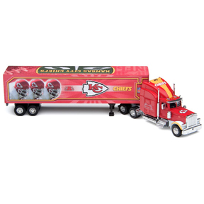 2006 NFL Die-cast Peterbilt Tractor Trailer - Kansas City Chiefs
