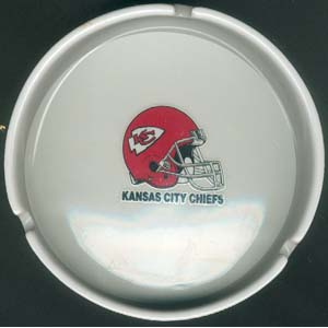 Ashtray with Gold Band - Kansas City Chiefs