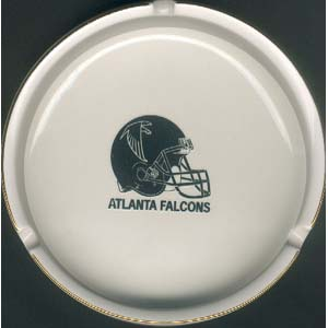 Ashtray with Gold Band - Atlanta Falcons