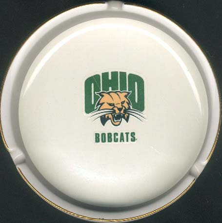 Ashtray with Gold Band - Ohio University Bobcats