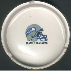 Ashtray with Gold Band - Seattle Seahawks