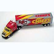 2001 White Rose NFL Die Cast Tractor-Trailer Kansas City Chiefs