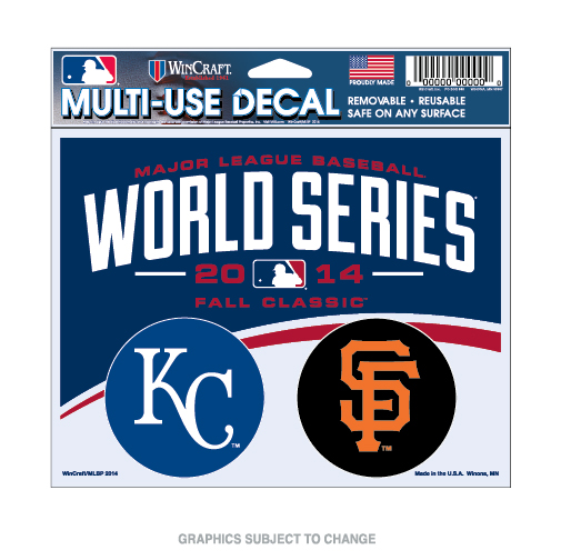 World Series Dueling KC Royals vs SF Giants Multi-Use Decal