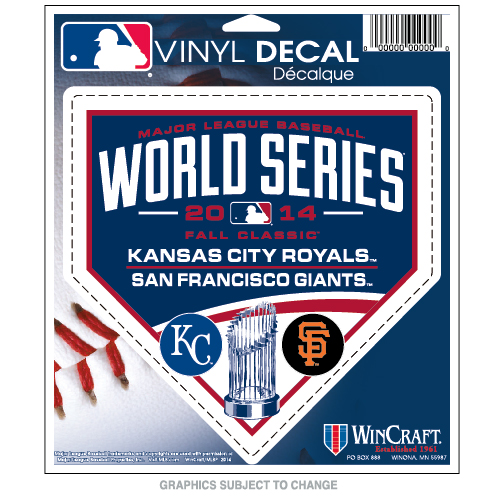 World Series Dueling KC Royals vs SF Giants Perfect Cut Decal