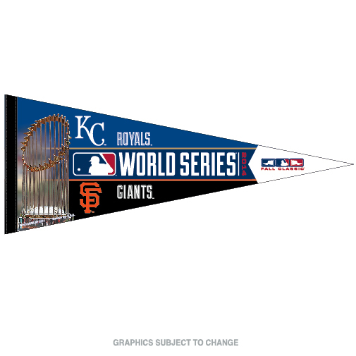 World Series Dueling KC Royals vs SF Giants Premium Pennant