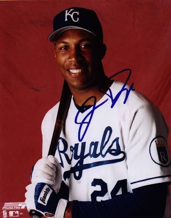 8 x 10 Autographed Photo - KC Royals - Jermaine Dye