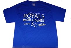 "Royals Tee Shirt World Series 2014 KC ""Take the Crown"" XXX LARGE"